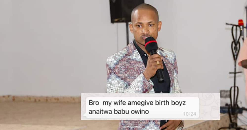 Babu Owino's named his son after him.
