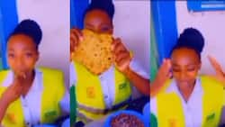 Policewoman Hilariously Complains about Chapati Size, Fits One in Her Mouth