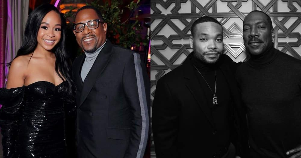 Eddie Murphy's son Eric and Martin Lawrence's daughter Jasmin are said to be an item.