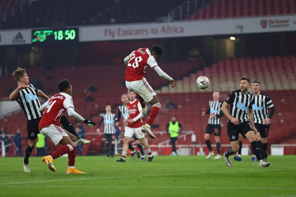 Arsenal vs Newcastle United: Aubameyang fires Gunners to Fa Cup 4th round