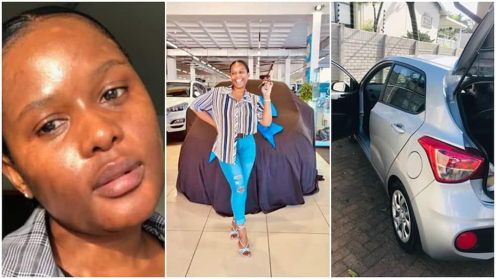 Nokulunga Njapha gets a car from her mother.