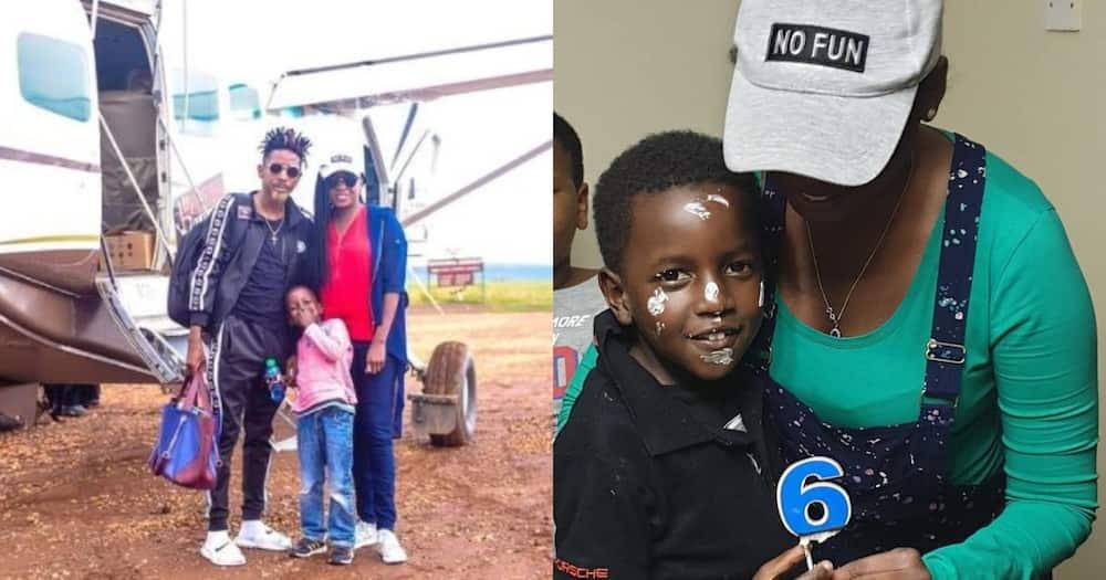 Jacque Maribe, Eric Omondi and their son