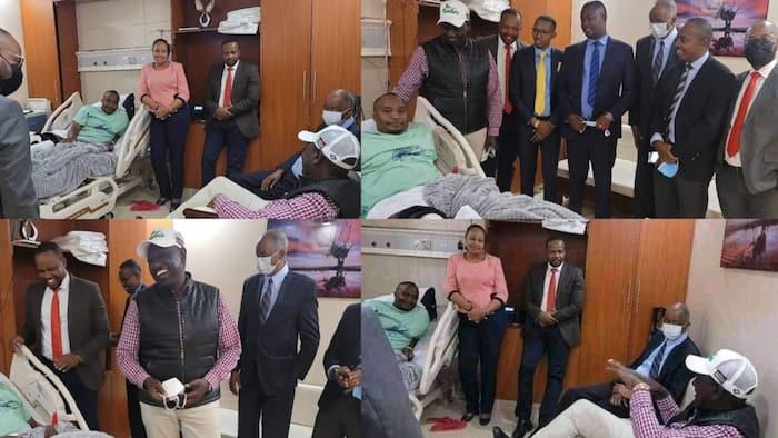 William Ruto Visits Ailing Starehe MP Charles Jaguar at a Nairobi Hospital