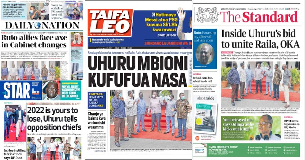 Top stories in the newspapers today.