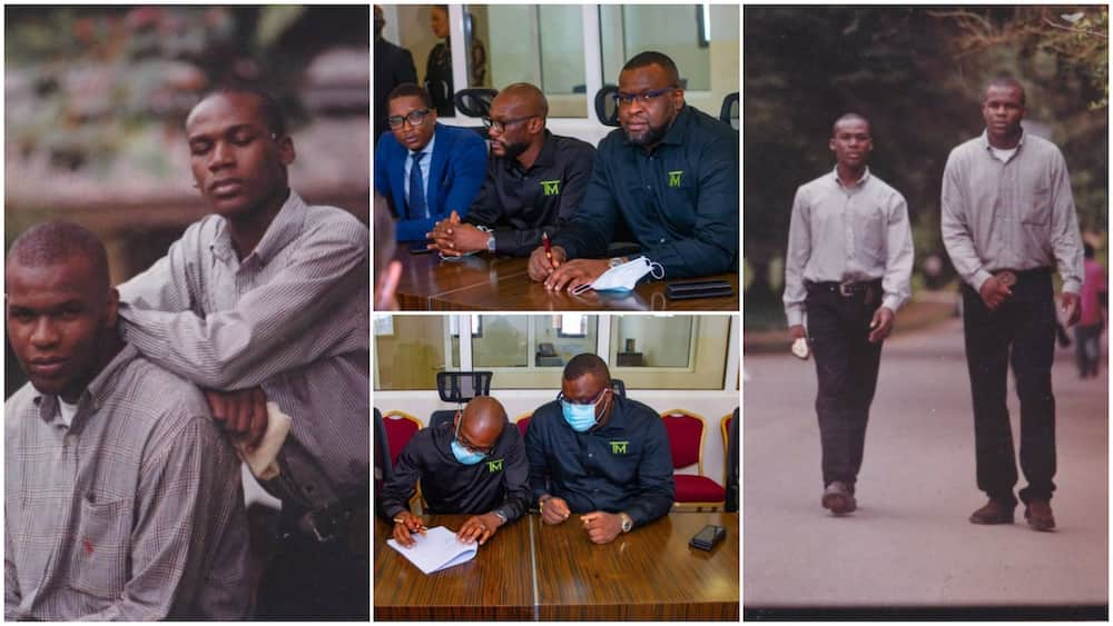Friends who have been together for 25yrs make it, sign big N4.5bn real estate contract, share throwback photos
