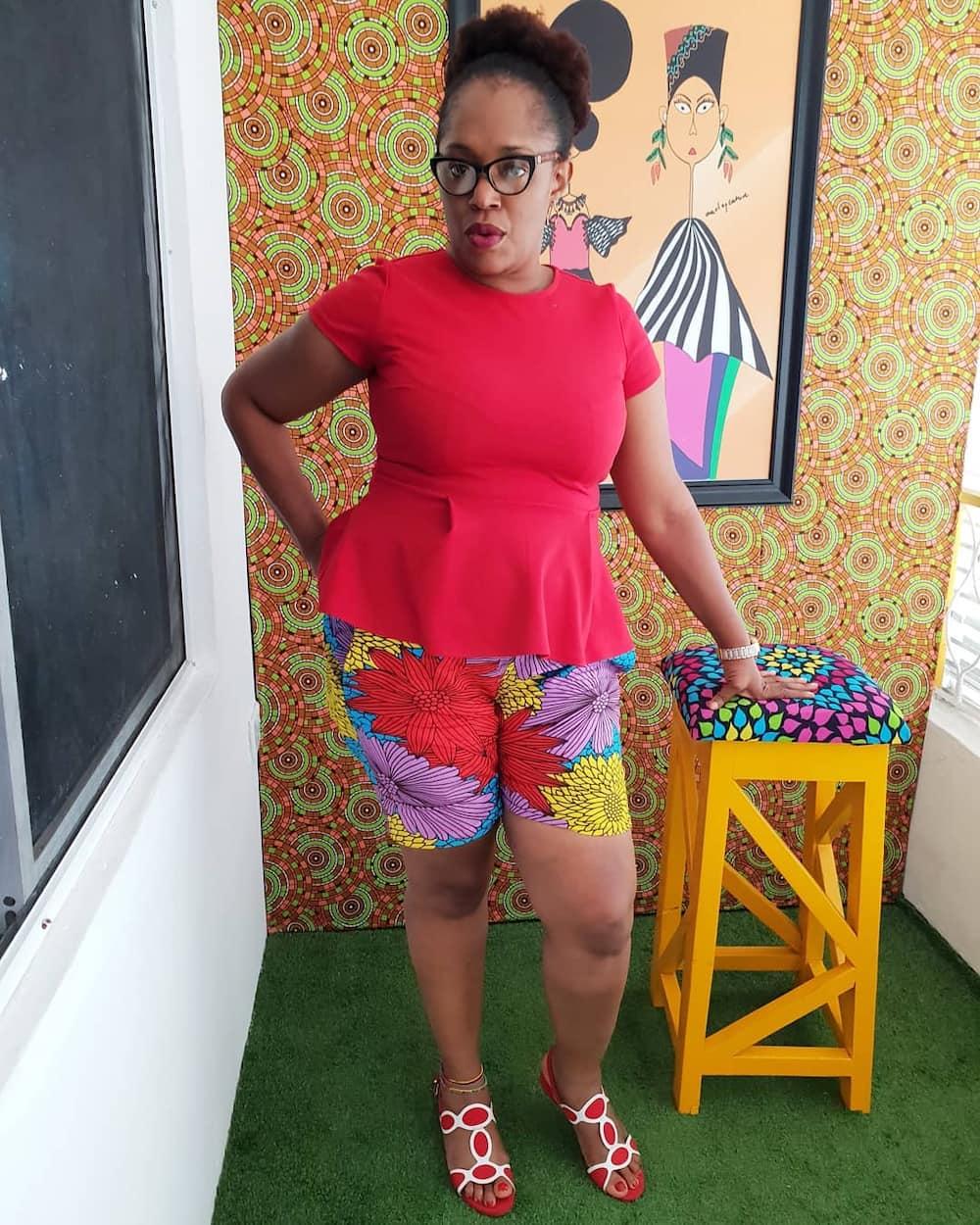 Ankara shorts and tops for ladies