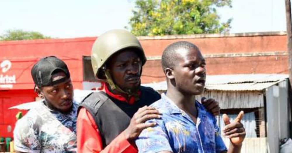Bobi Wine takes boda boda to campaign venue after police block his convoy