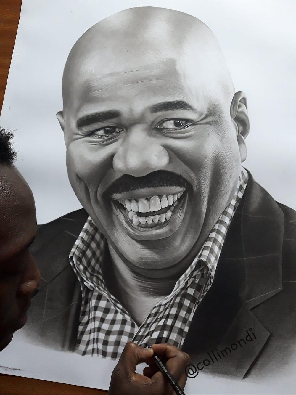 US comedian Steve Harvey to meet Kenyan pencil artist who drew his impressive portrait