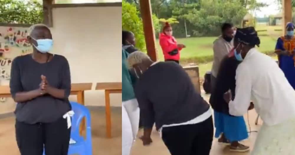 Auma Obama visited the Sauti Kuu Foundation where she got a surprise gift.