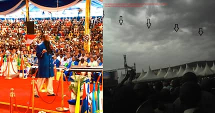 Controversial Prophet David Owuor's followers say God sent staircase to heaven during Nakuru event