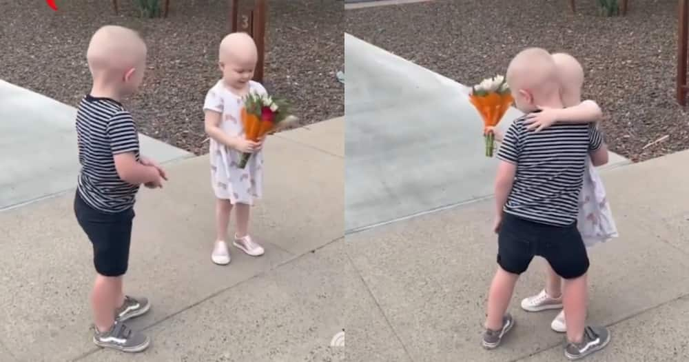 The two kids met in the hospital when they were both undergoing cancer treatment. Photo: Video screenshot from TODAY SHOW.