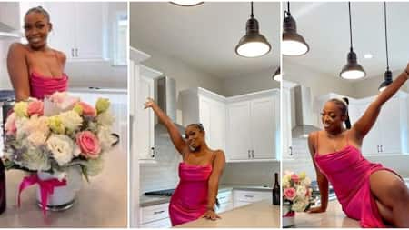 24-Year-Old Lady Celebrates Owning House in the US with Sultry Photos