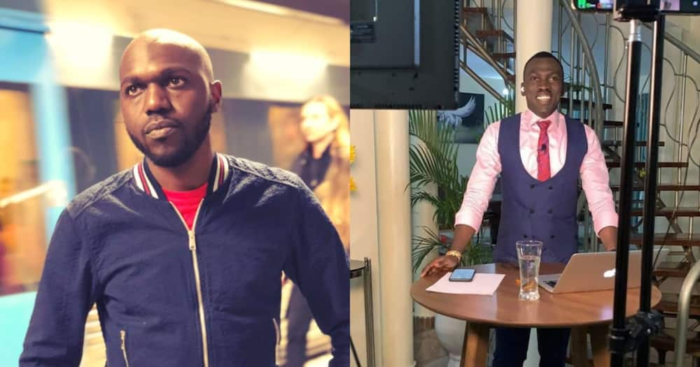 Larry Madowo (R) and Trevor Ombija (L) were on vacation together at the coast. Photo: @LarryMadowo, @Trevor_ombija.