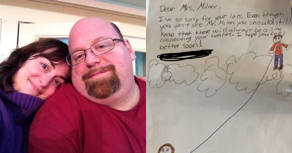This teacher's students wrote a very thoughtful note to try and help her feel better. Images: Melissa Milner