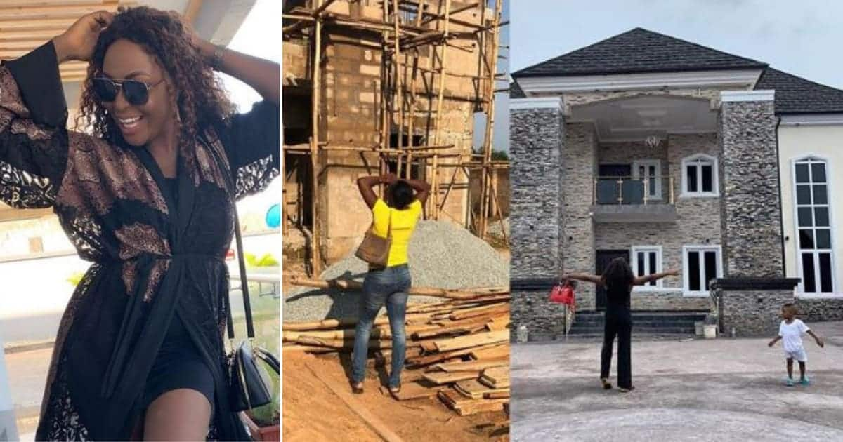 Woman builds 7 bedroom house 8 years after hubby chased her from one bedroom home