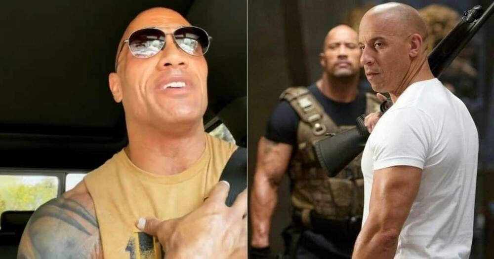 Dwayne Johnson, Vin Diesel, The Rock, reacts, 'Fast Five' comments