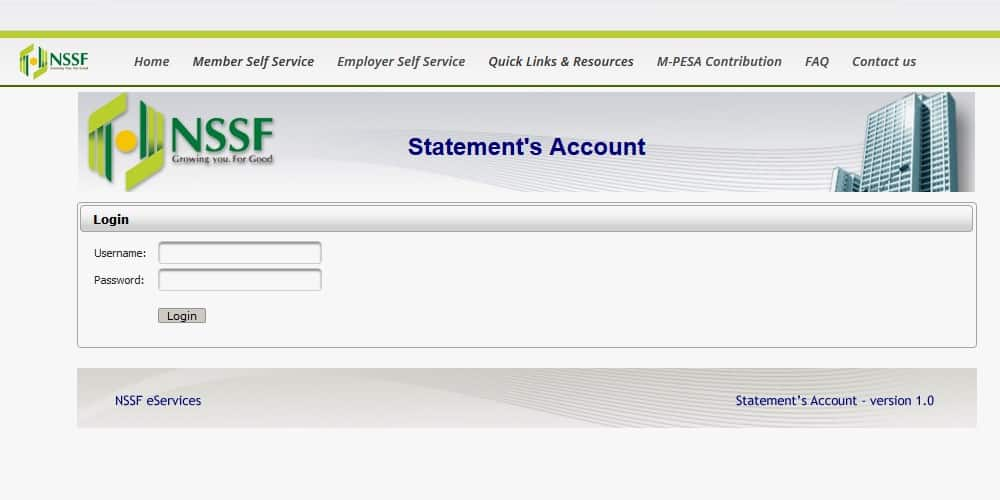 check NSSF contributions online