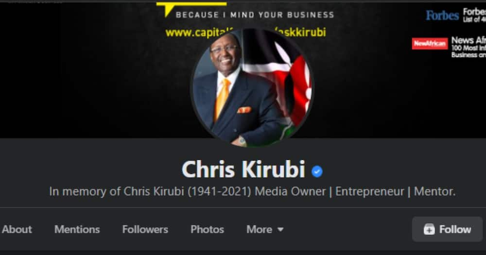 Chris Kirubi's died recently after a long battle with cancer.