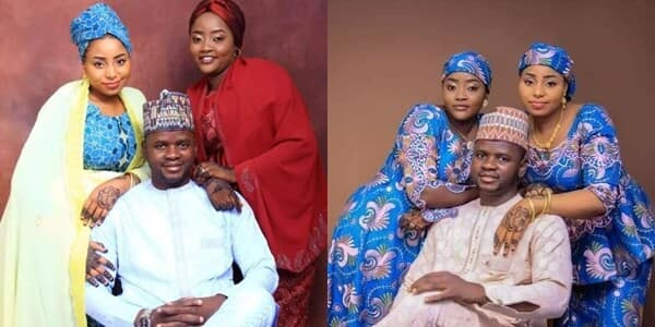 Man marries two wives on same day; says it's his dream come true as photos cause stirs on social media