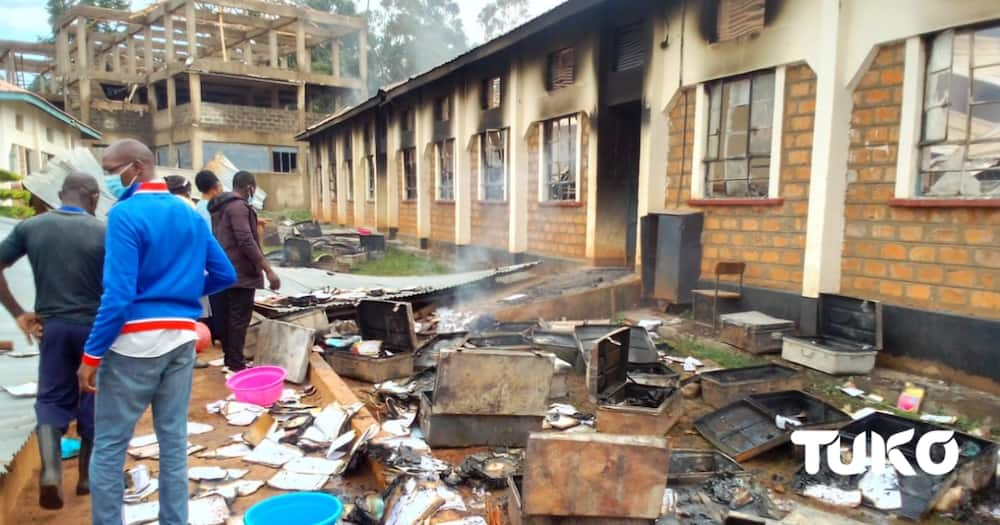 Authorities are investigating a fire incident at Ringa Boys High School in Homa Bay.