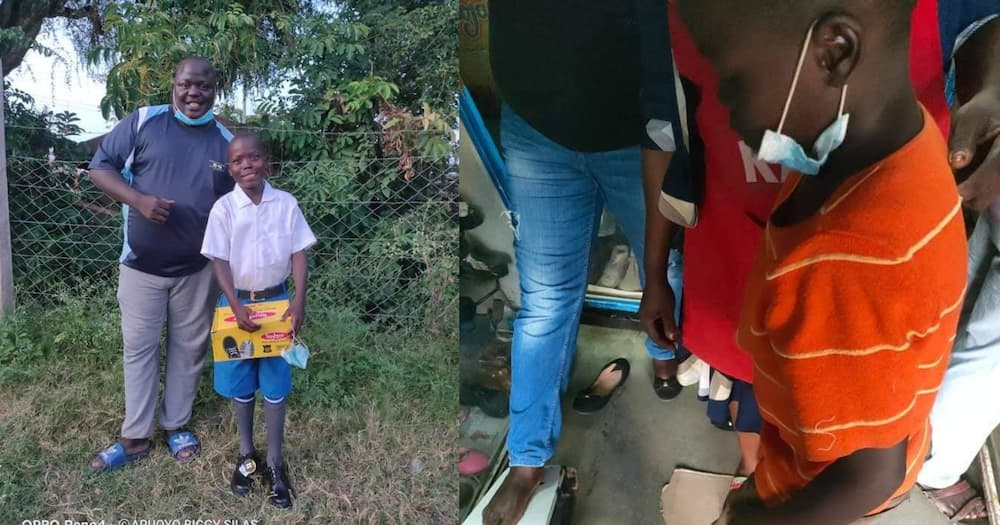 Luck smiles on Ogenya pupil who wore worn out sandals to school