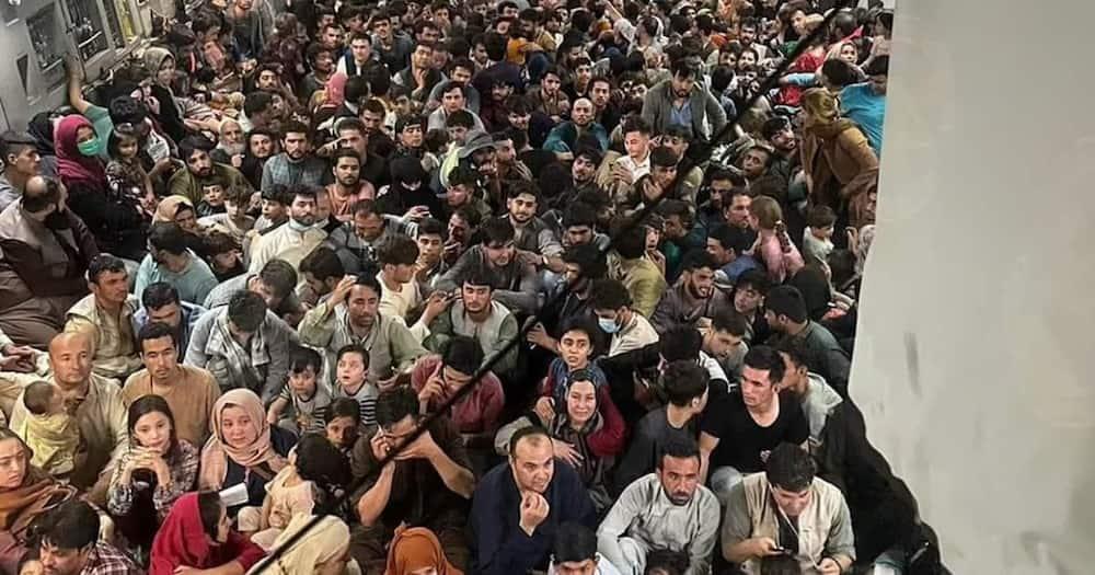 640 Refugees Cram Onto Us Aircraft Fleeing Taliban Controlled Kabul