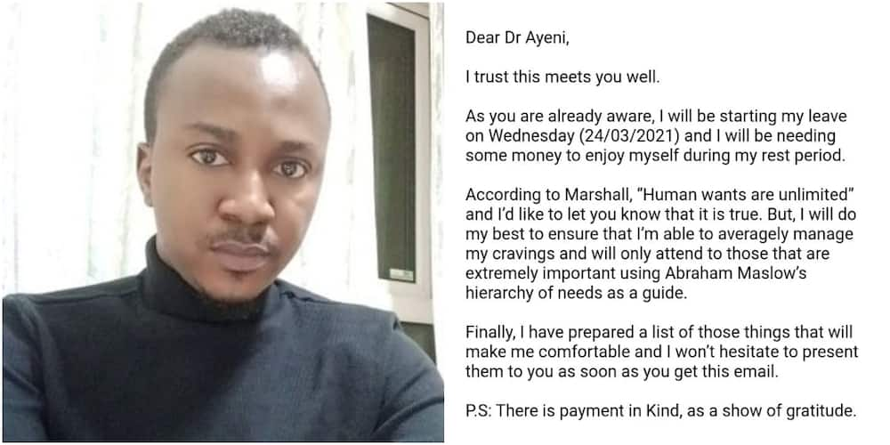 Massive Reactions as Nigerian Doctor Shares Screenshot of Wife's Request Sent as Formal Letter