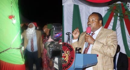 Kiambu Governor Waititu excites Kenyans yet again, steps out dressed like Father Christmas