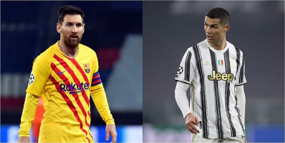 File photos of Lionel Messi and Ronaldo.