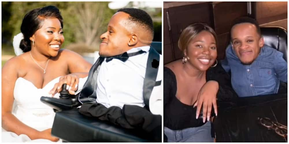 Man born with brittle born disorder weds beautiful bride, she shares love story