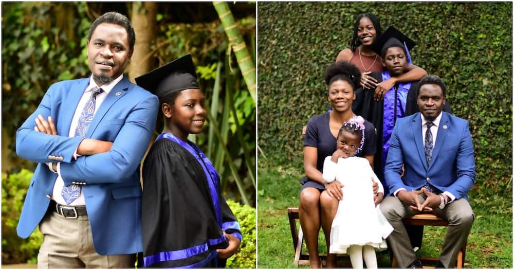 Nelson Havi spends memorable moments with his family.