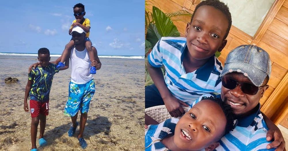 Ababu Namwamba and his sons.