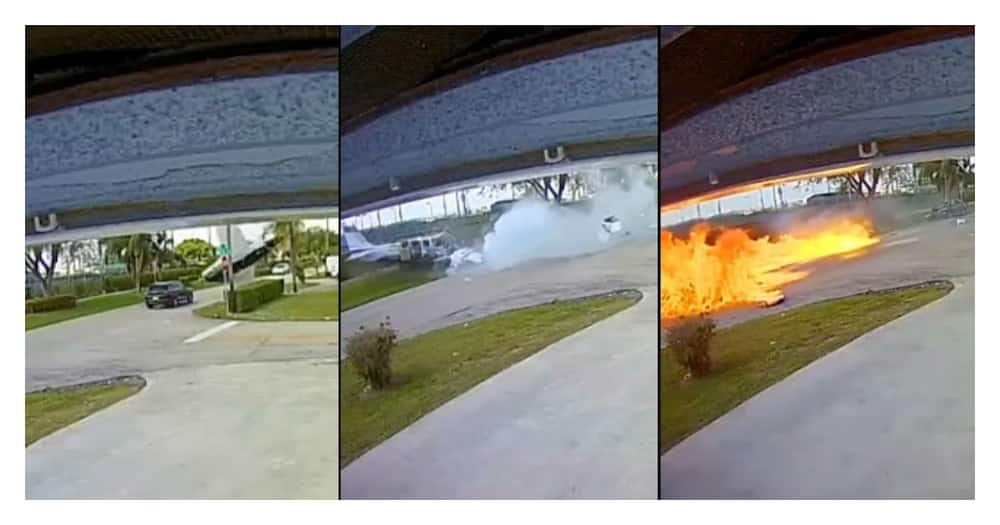 Florida Air crash: 3 Dead, 1 Injured After Small Plane Crashes into Car