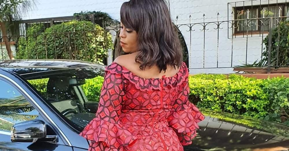 Lilian Muli lauds 10 strong men who offered help after her posh ride got stuck in mud