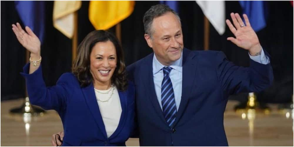 The United States Vice President Kamala Harris with her husband Doug Emhoff. Photo: Getty Images