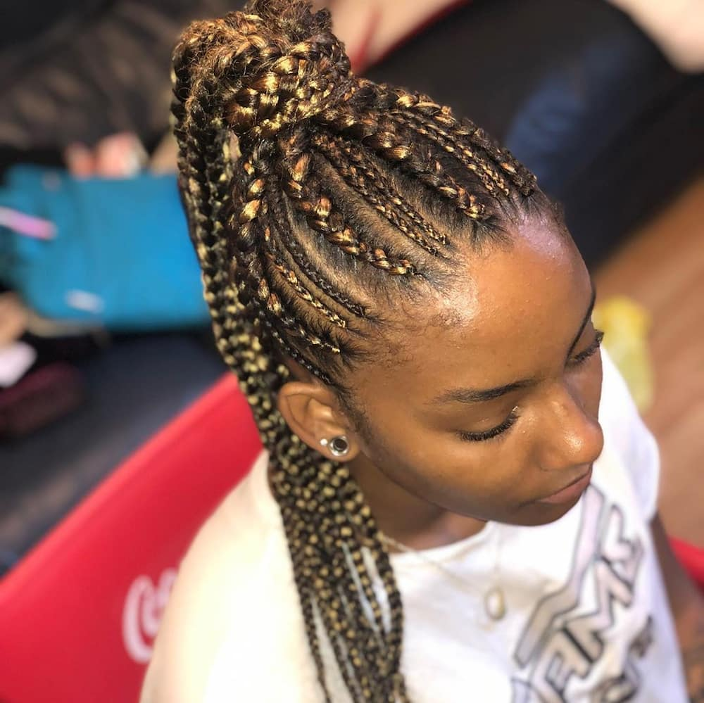 25 latest Ghana weaving shuku hairstyles in 2019 Tuko.co.ke
