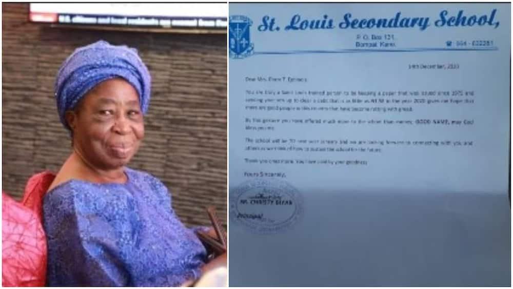 Nigerian woman finally pays school fees of around N2 she owned in 1975, principal writes her letter from Kano
