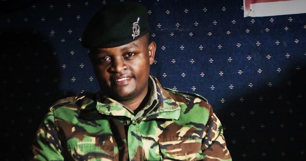 Through art, Qibuchi has been calling for peaceful coexistence between cops and Kenyans.