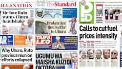 Kenyan Newspapers Review: William Ruto Ready for a Handshake with Uhuru Kenyatta