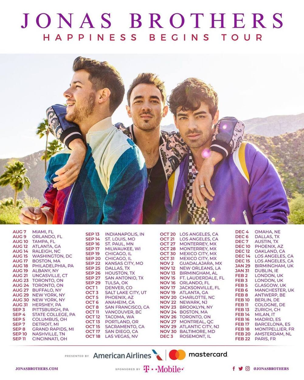 Jonas brothers tours