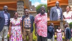 Rigathi Gachagua, Wife Dorcas Host William Ruto in Their Lavish Sagana Home