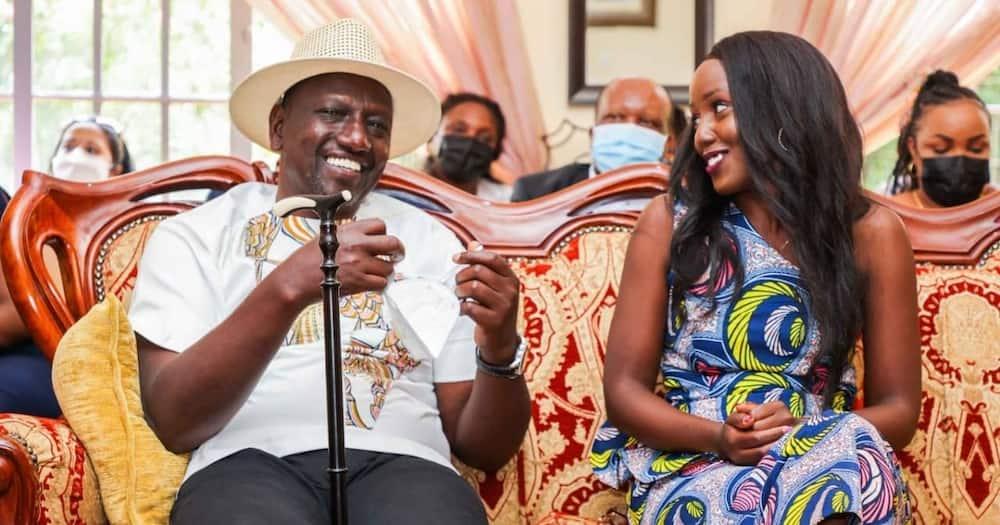 Deputy President William Ruto and her daughter June Ruto. Photo: Dennis Itumbi.