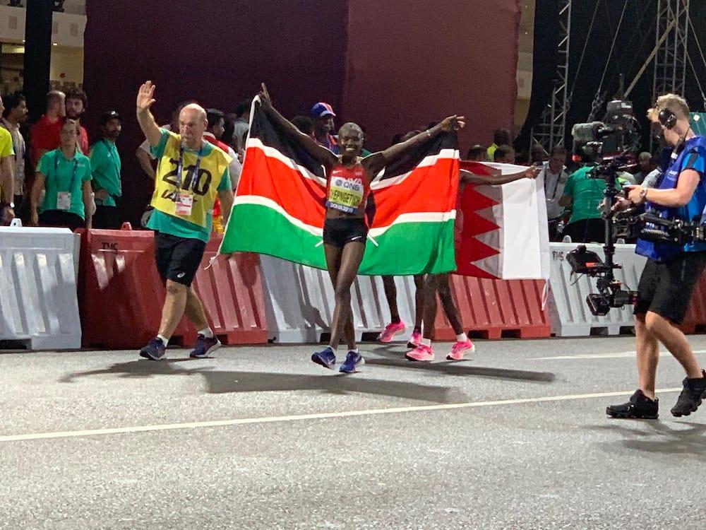 Ruth Chepngetich wins gold in women's marathon in Doha