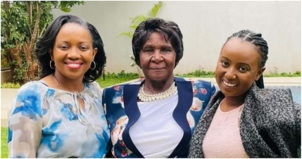 Nakuru Senator Susan Kihika in the company of her mother and daughter.