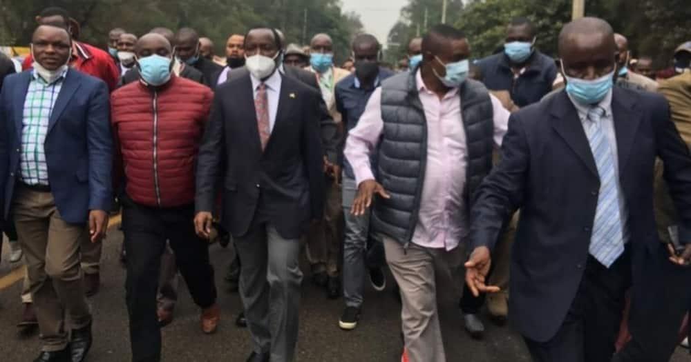 Kalonzo Musyoka presents himself to DCI over Yatta land grabbing allegations