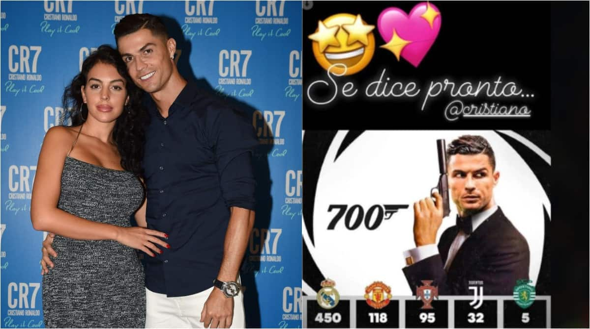 Cristiano Ronaldo's partner celebrates 700th career with amazing James Bond photo