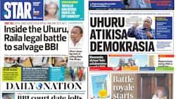 Kenyan Newspapers Review for June 3: Blow to Uhuru, Raila as Court Dates Dim BBI Referendum Prospects