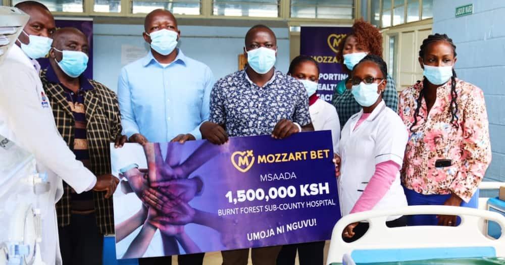 Mozzart donates equipment worth KSh 1.5m to Burnt Forest Sub County Hospital