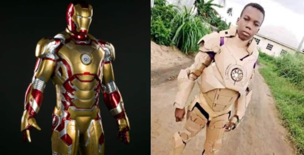 Boy transformed papers into an Iron Man suit Source: Side Show