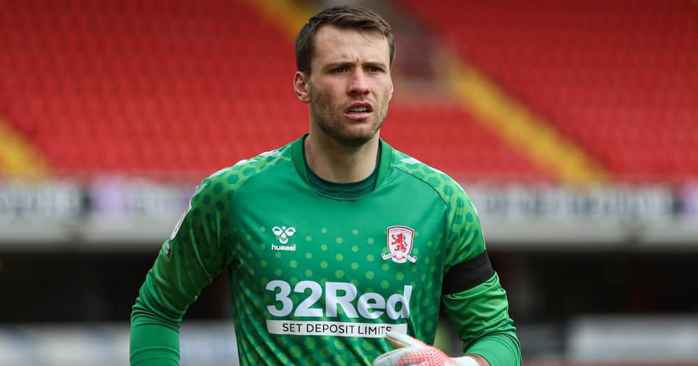 Marcus Bettinelli in Middlesbrough colours.